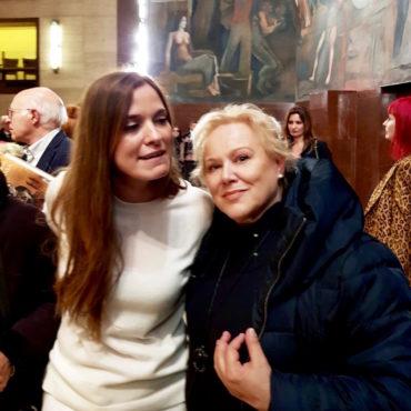 L'artista Marina Taroni con Stefania Pieralice - Università La Sapienza Roma