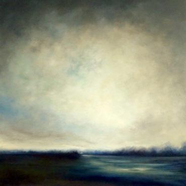 Marina Taroni - IL SILENZIO DENTRO - olio su tela - cm 100 x 100